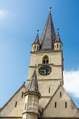 picture of sibiu  - The Lutheran Cathedral of Saint Mary was built in 1530 and is the most famous Gothic - JPG