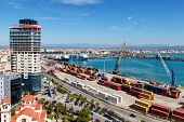foto of albania  - Top view of the port of Durres Albania - JPG