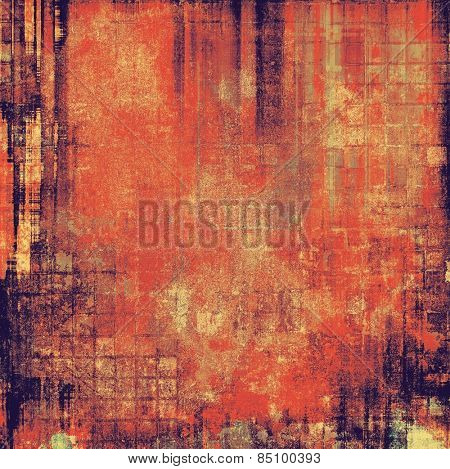 Old texture with delicate abstract pattern as grunge background. With different color patterns: yellow (beige); brown; purple (violet); red (orange)