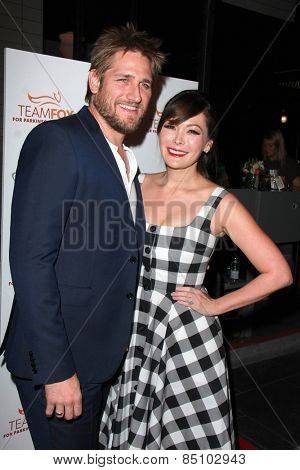 LOS ANGELES - MAR 7:  Curtis Stone, Lindsay Price at the Raising The Bar To End Parkinsons Event at the Public School 818 on March 7, 2015 in Sherman Oaks, CA