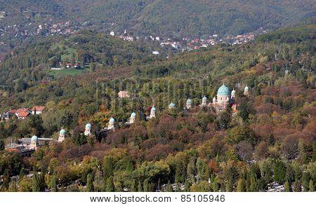 ZAGREB, CROATIA - OCTOBER 14: Mirogoj cemetery in Zagreb on October 14, 2007 Zagreb, Croatia.