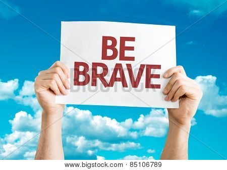 Be Brave card with sky background