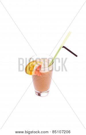 Set Of Cocktails Soft Drinks Ind Front Of White Background