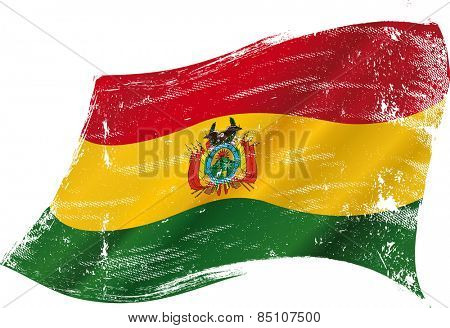 Bolivian grunge flag. A grunge flag of Bolivia in the wind flag for you