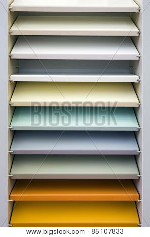 Empty Pale Colorful Bookshelf Background