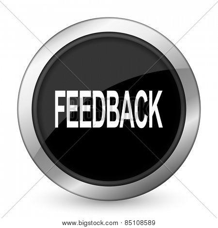 feedback black icon