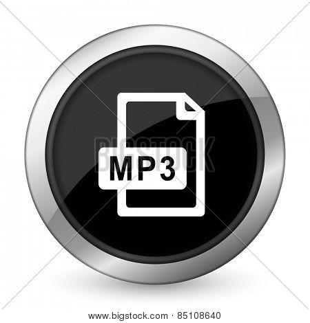 mp3 file black icon