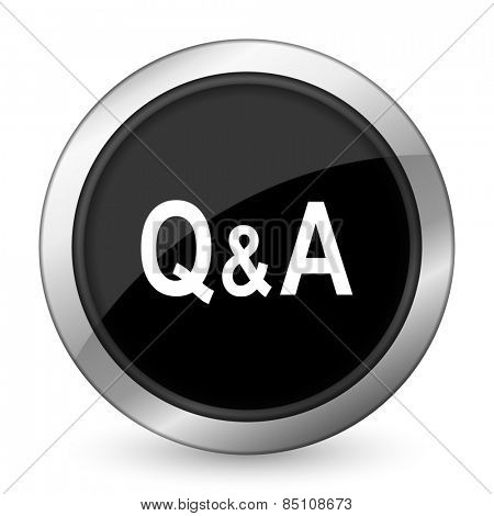 question answer black icon