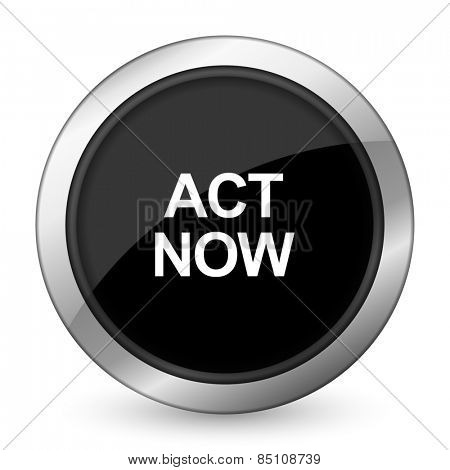 act now black icon