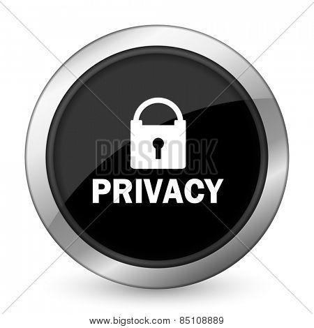 privacy black icon