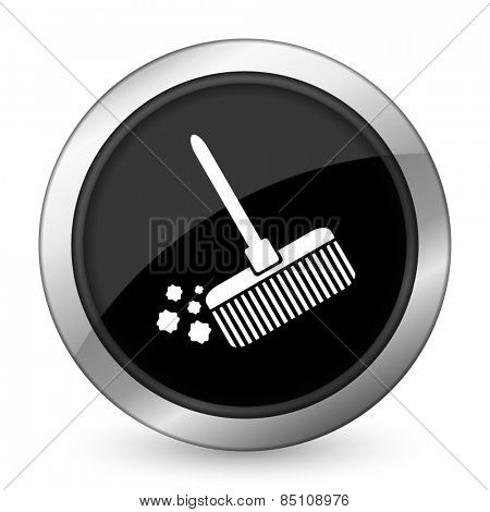 broom black icon clean sign