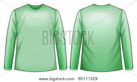 Long sleeves shirt with back and front view