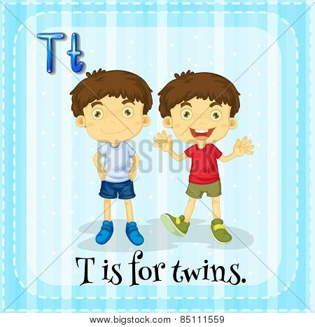 Letter T is for twins
