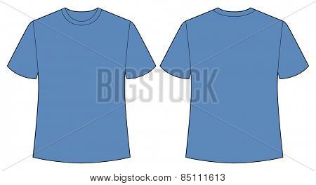 Short sleeves shirt with back and front view