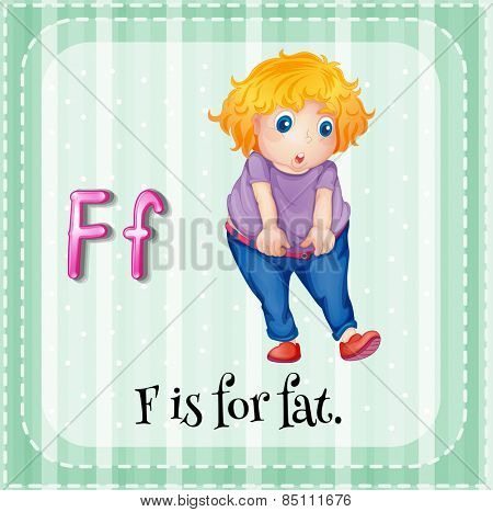 Alphabet F is for fat