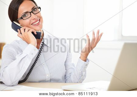 Female Corporate Executive Talking On The Phone