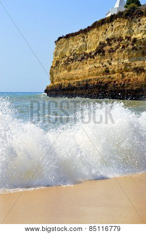 Senhora Da Rocha Beach in Portugal