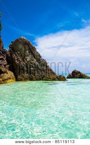 Lagoon View Blue Seascape