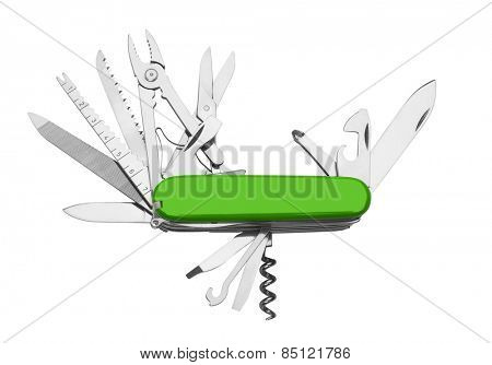 Knife multi-tool, isolated on white background