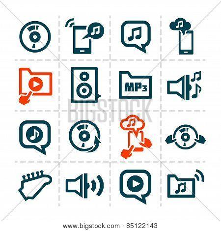 audio line icons