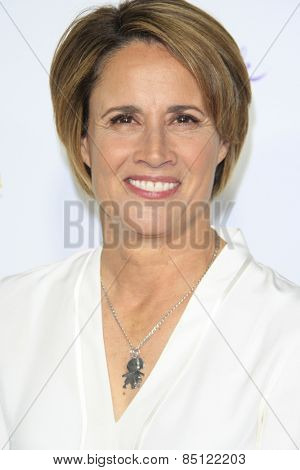 LOS ANGELES - JAN 8: Mary Carillo at the TCA Winter 2015 Event For Hallmark Channel and Hallmark Movies & Mysteries at Tournament House on January 8, 2015 in Pasadena, CA
