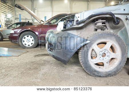 Cars is prepared for repair