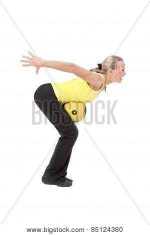 Fitness With Ball: Young Woman Doing Exercises
