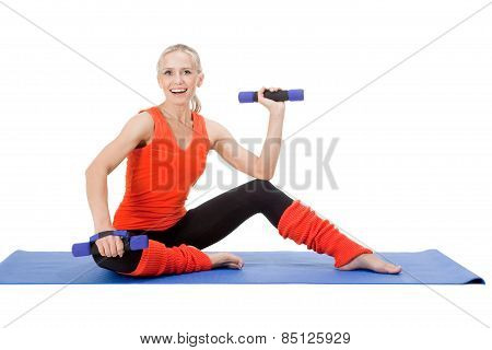 Exercises With Dumb-bells On The Mat