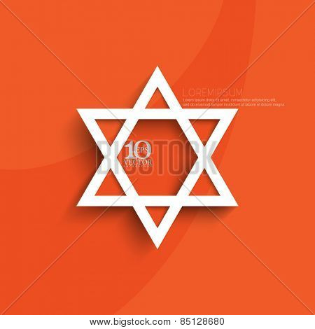 eps10 vector white emblem of star of David illustration