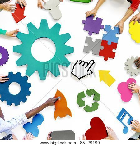 Diversity Teamwork Planning Strategy Support Technology Concept