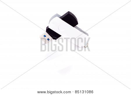 usb stick on white