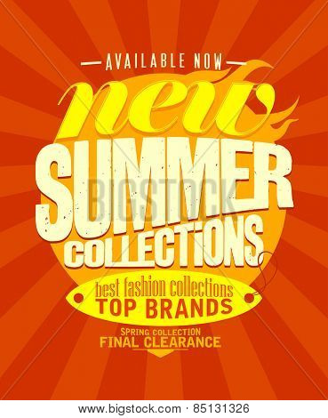 New summer collections available now design.