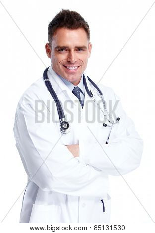 Doctor man isolated on white background. Health care.