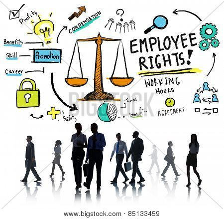 Employee Rights Employment Equality Job Business Commuter Concept