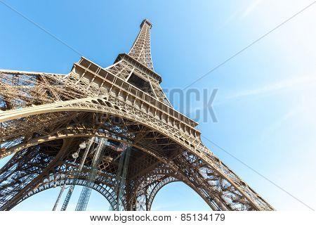 Eiffel Tower with blue sky summer, Paris France