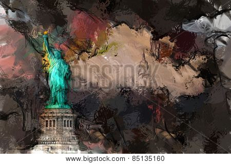 NYC Liberty Landscape