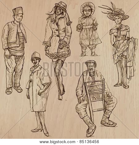 Fashion Between The Years 1870-1970, Vectors
