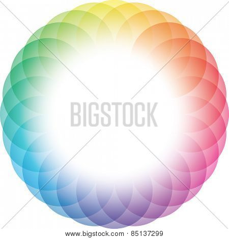 Color Wheel Frame Background. Vector Eps10.