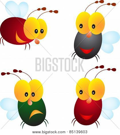 Isolated Fly Vectors, Insect Vectors