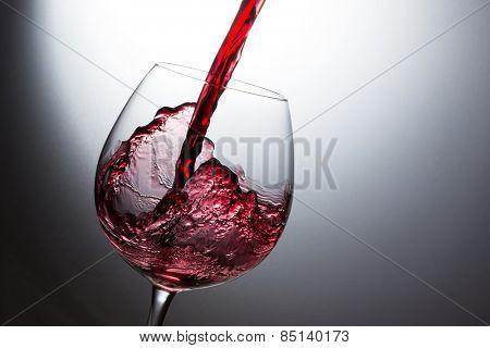 Beautiful splash of red wine