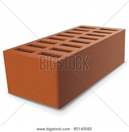 Brick on a white background. illustration.