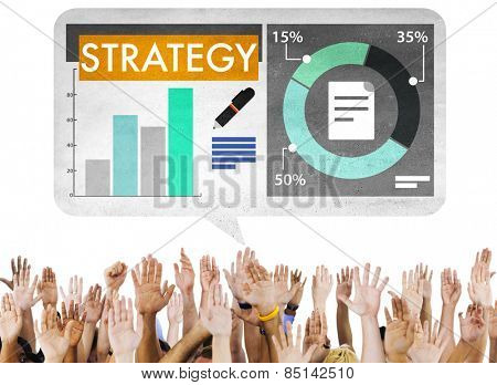 Information Planning Strategy Marketing Chart Concept