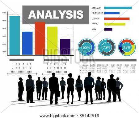 Analysis analyzing information bar graph data concept