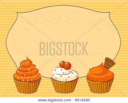 Thanksgiving Cupcake Place Card