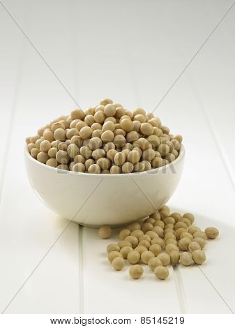bowl of soy beans on the table