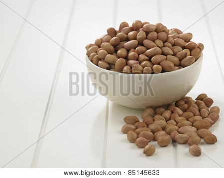 bowl of ground nut on the table