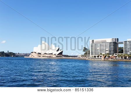Sydney,Australia-August 15,2014: Sydney opera house and sea during daytime.