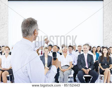 Business People Meeting Leader Speaker Teamwork Concept