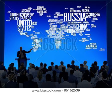 Russia Global World International Countries Globalization Concept