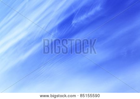 Blue spring sky with cirrus clouds - abstract background
